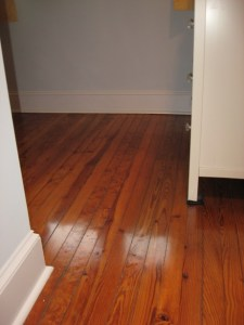 Remodeling a Bungalow :: refinished tigered heartwood pine floors