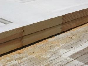 Making a Bi-Fold Door :: solid wood door cut in half