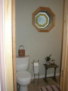 Stained Glass Octagon Window Half Bath update