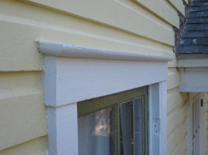 Exterior Window Trim Pitched to Shed Water