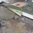 new girder slid into porch framing