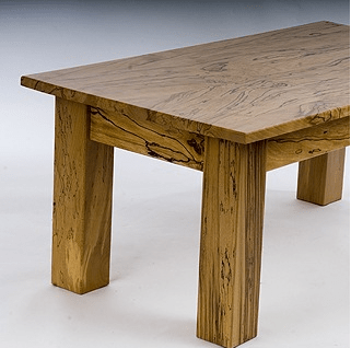 spalted wood coffee table image via Kit Tosello