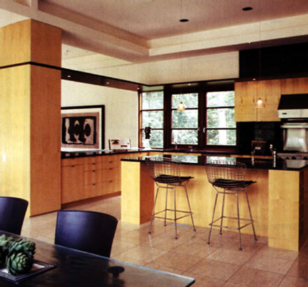 a touch of mahogany framed maple kitchen image via Cal Finder/Baltimore Style