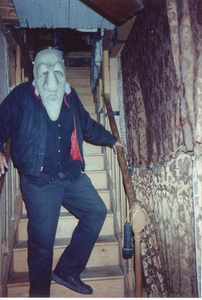 how to stage a haunted house :: child man Halloween character
