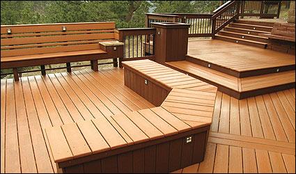 CorrectDeck CX decking large deck with bench