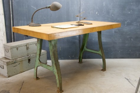 Maple Block Metal Factory Desk Featured in the Movie Inception via Modern 50