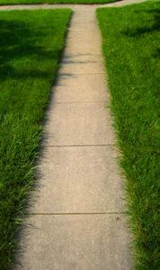 Not Edged Grass at SideWalk
