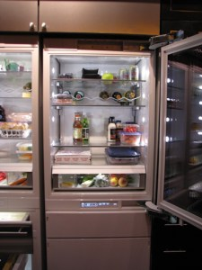 Monogram 30-inch Refrigerator ramp up lighting via Barry Morgan