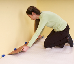 Installing Laminate Flooring Start with Spacers