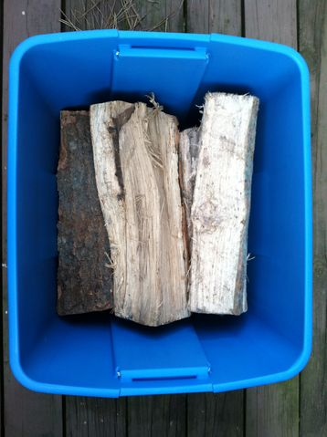 Storing Firewood Small Quantaties Tupperware source :: Ryan McCracken