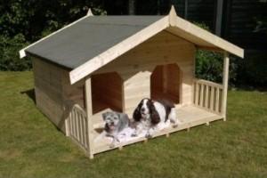 pet friendly home ideas :: Large Double Dog House via http://www.dogsinthegarden.co.uk/