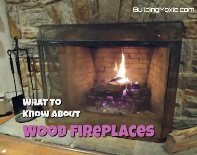 Stone Wood Fireplace