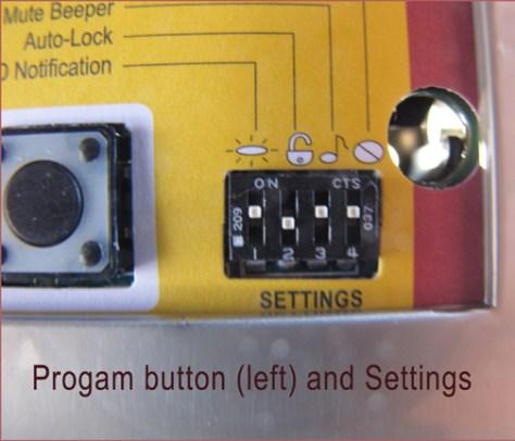Kwikset Touchpad Keyless Entry Progam Button & Settings