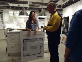 Amy Hughes with Bill Meiswinkel Ikea Baltimore