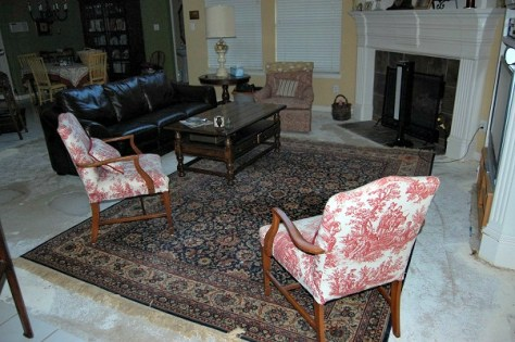 Removed Carpet Area Rug Concrete Slab