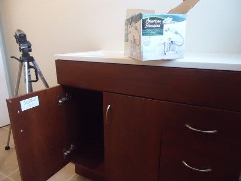 American Standard Box atop a St. Paul Vanity