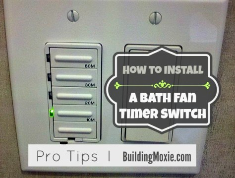 How to Install a Bath Fan Timer