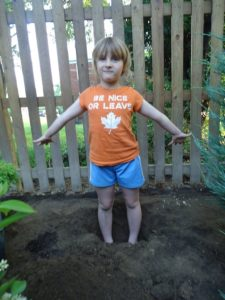 Be Nice or Leave Tee Shirt - Little Girl Helping to Plant Tree