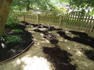 Soil Conditioner Piled on a Yard