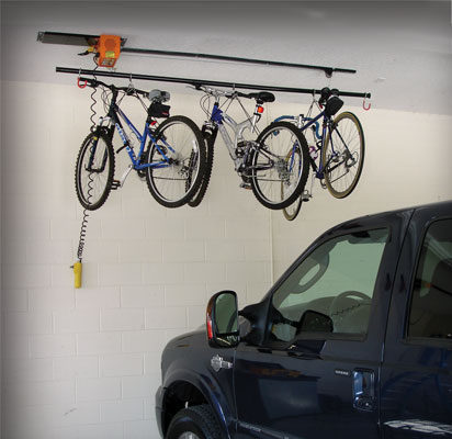 Garage Gator motorized cable mounted bike rack