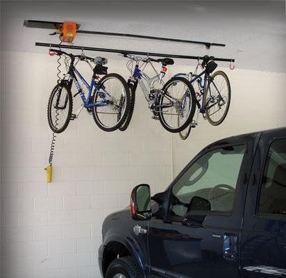 Garage Gator motorized cable mounted bike rack