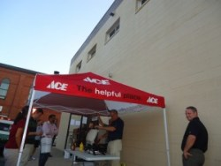 Baltimore's Newest Ace Hardware :: hot dogs on grill grand opening Canton Ace Hardware