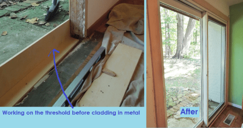 Pella Sliding Door Install During and After