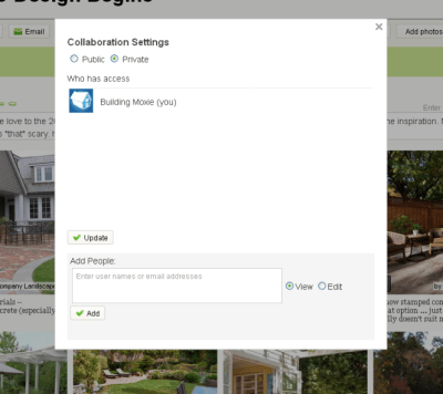 Collaborate on an IdeaBook in Houzz