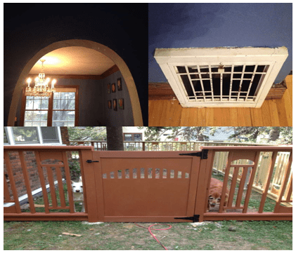 Fence Detail Inspired by arched doorway and hvac register