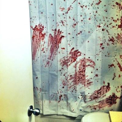DIY Guide for Halloween Decorating :: Slasher Bathroom Shower Curtain