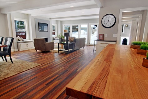 Dark Sort Reclaimed Wood Flooring