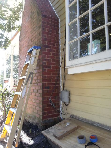 caulk a chimney
