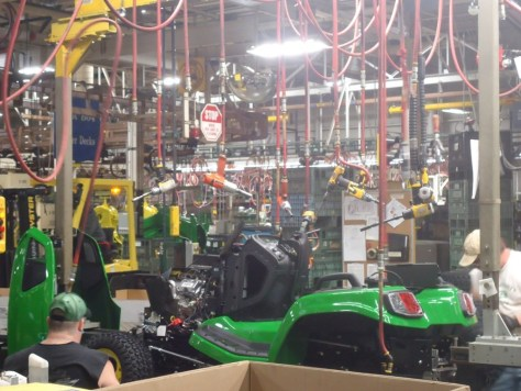 Air Tools Hung From Ceiling John Deere Horicon Works