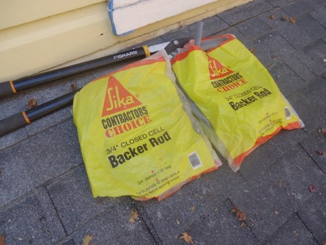 backer rod used at roof line