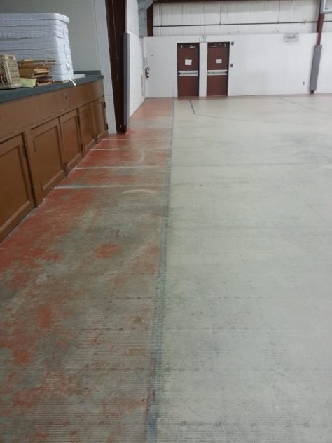 basketball court in need of painting