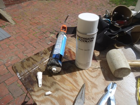 gutter touch up paint misc tools