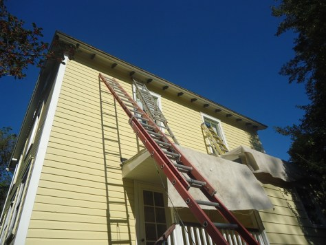 Installing Half Round Gutters Prepping Trim and Paint
