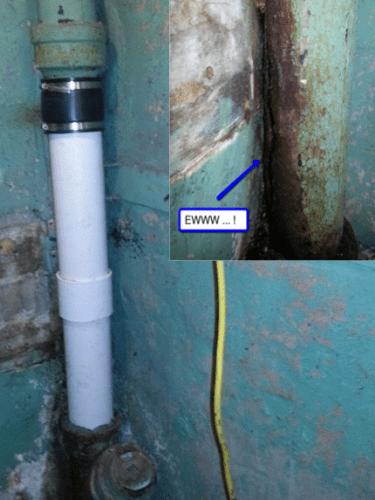plumber reparied cast iron pipe