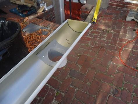 wide flange gutter outlet half round gutters