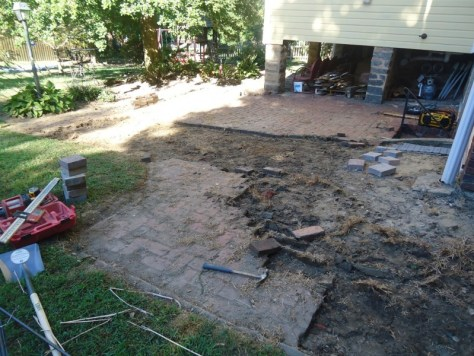 patio demo begins