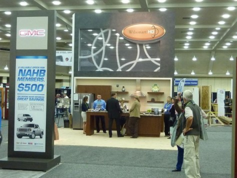 Wilsonart Booth Remodeling-Show distance