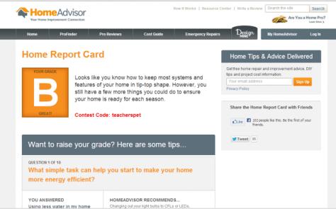 Home Report Card Quiz Teachers Pet