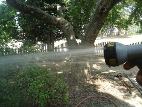 prepping for pressure washing cleaner