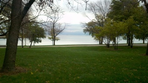 Lake Michigan outside of Conference Center