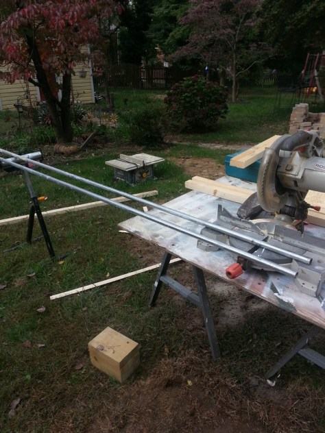 Electrical Conduit for Security Bars Cut on Chop Saw