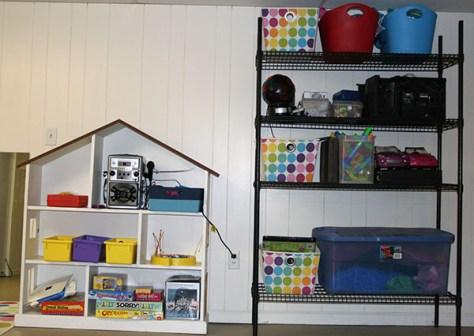 basement finishing plan :: basement storage