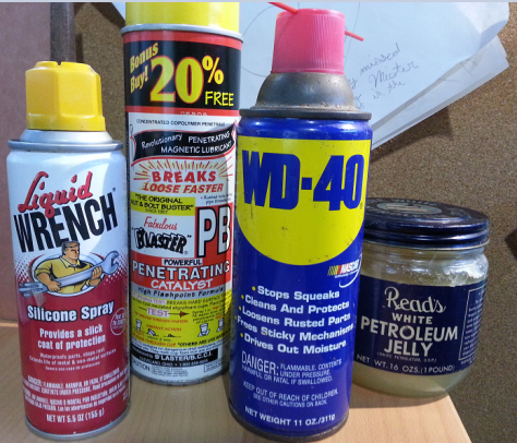 Miscellaneous Home Maintenance Lubricants