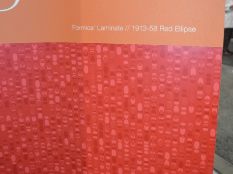 Formica Red Ellipse
