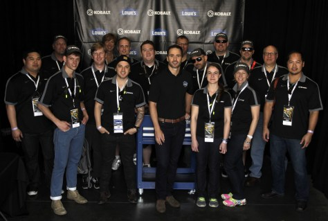 Jimmie Johnson with Editors