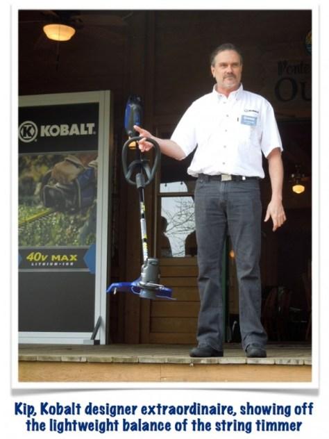 Lightweight & balance characteristics of the Kobalt string trimmer